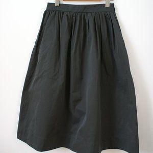 A-line midi skirt with pockets